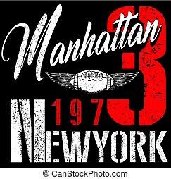 College New York typography, t-shirt graphics.