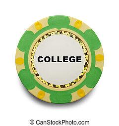 College Poker Chip