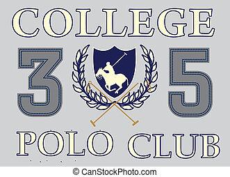 college polo player vector art