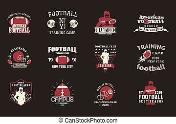 College rugby and american football team, campus, college...