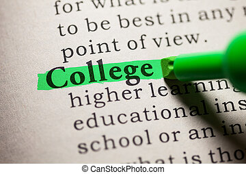 college - Fake Dictionary, definition of the word college.