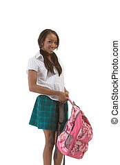 College student African American woman