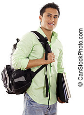 College Student - Stock image of university student over ...