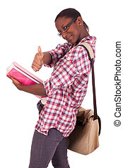 College student young African American