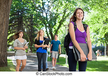 College Students Outside