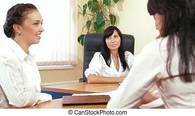 colleghi affari, a, riunione