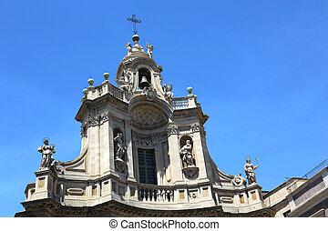 Collegiata Church Catania - the bell tower of the Collegiata...