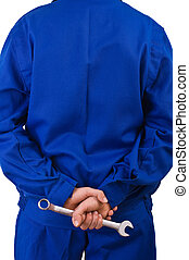 colletto blu, worker.
