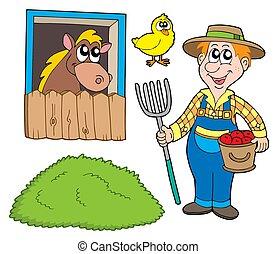collezione, contadino