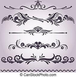 collezione, di, elementi decorativi, 5