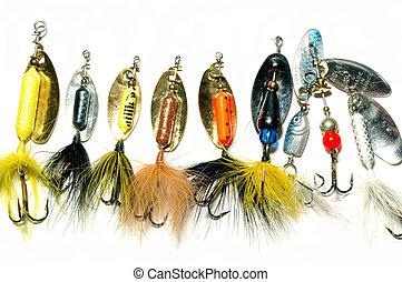 collezione, di, pesca, lur