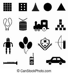 collezione, di, simboli, vettore, illustrazione