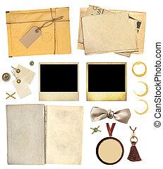 collezione, elementi, per, scrapbooking