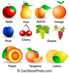 collezione, frutte