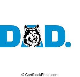 Collie dad in blue - Collie best dad ever slogan