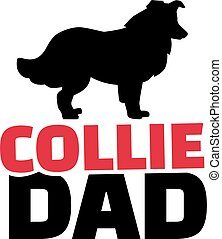 Collie dad with dog silhouette
