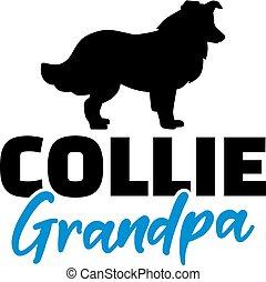 Collie Grandpa with silhouette - Collie Grandpa silhouette...