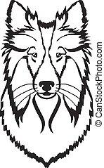 Collie vector black icon logo