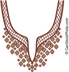 collier, conception, mode