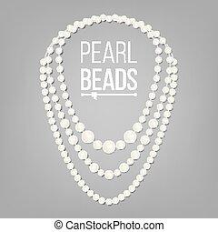 collier perle vector