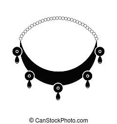 collier, silhouette