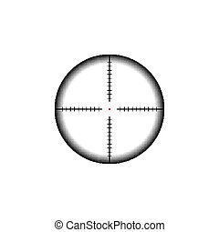collimator, ターゲット, crosshairs., 光景, ライフル銃, 軍, icon., 狙撃兵