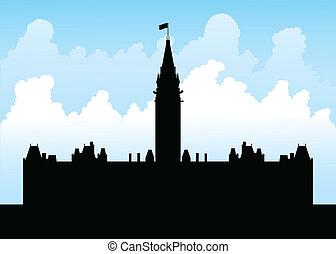 collina, parlamento, ottawa