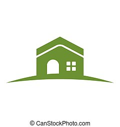 collina verde, casa