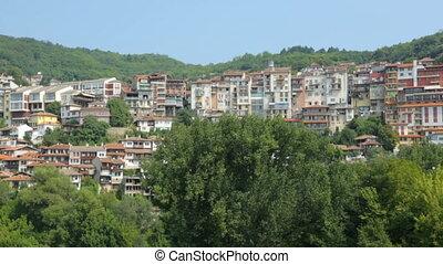 colline, bâtiments, bulgarie