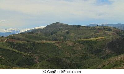 colline, cultures, montagneux, herbeux