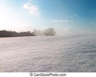 colline hiver