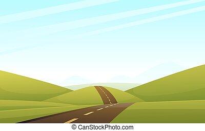colline, route