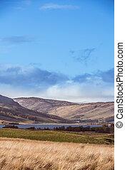 collines, freuchie, loch, perthshire, ecosse