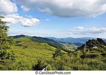 collines vertes