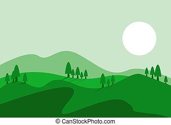 collines, vue