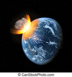 collision, astéroïde, la terre
