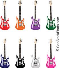 collored, gitárok