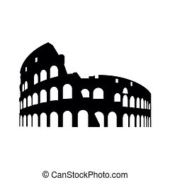 An abstract vector illustration of collosseum in rome