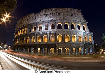 collosseum rome italy night