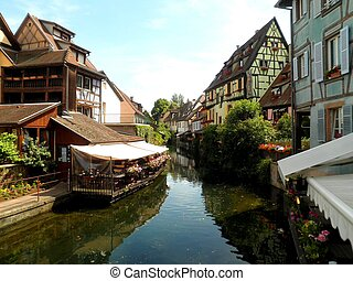 Colmar Alsace France - Beautiful Colmar half timbered houses...