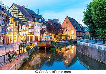 Colmar France Night - Colmar France at Night