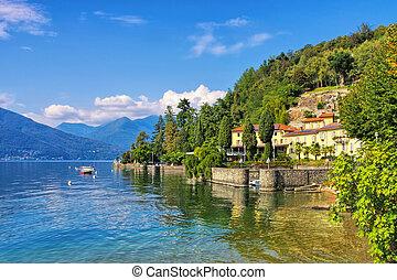 Colmegna in northern Italy - Colmegna on Lago Maggiore in ...