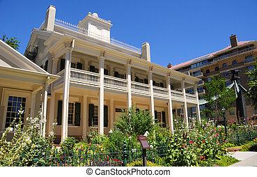colmeia, casa, um, mormon, histórico, residência, em, cidade lago salt