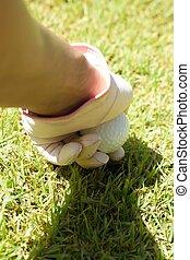 colocación, pelota de golf