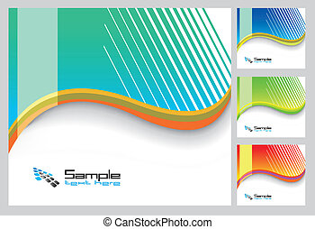 Abstract Rainbow Background for Business Brochure or Cover