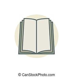 coloful, vector, boek, pictogram