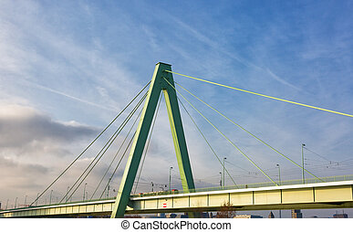 Cologne, cable-stayed bridge across the Rhine