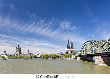 Cologne Cathedral and Great St. Martin Church, Germany