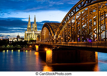 Cologne Cathedral - Cologne cathedral after sunset