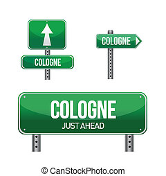 cologne city road sign